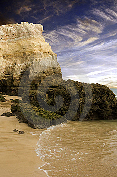 Rocky Coastal Beach In Portugal Stock Photos - Image: 6362003
