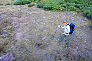 Person Hiking Imagenes de archivo - Imagen: 6364714