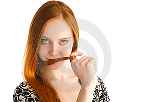Long red hair Stock Photos