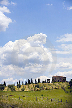 TUSCANY Countryside,little Farm Stock Photo - Image: 6367010