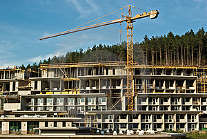 Construction Of Resort Hotel In The Hills Stock Photo - Image: 6369320