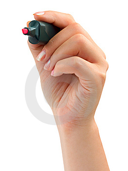 Hand With Marker Stock Photos - Image: 6373773