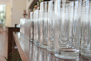 Row Of Hi-ball Glasses Stock Photography - Image: 6374712