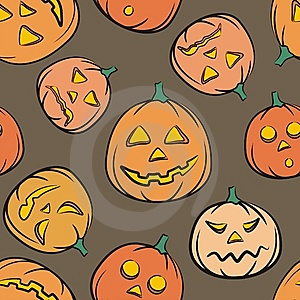 Vector. Halloween Seamless Multicolor Background Royalty Free Stock Photo - Image: 6375745