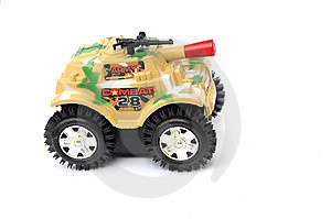 The Colorful Camouflage Plastic Toy Tank Royalty Free Stock Image - Image: 6376956
