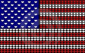 USA Hearts Flag Royalty Free Stock Images - Image: 6380429