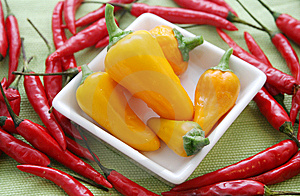 Paprika Und Chillis Royalty Free Stock Images - Image: 6382199
