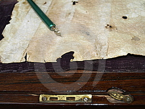 Antique Calligraphy Close Up Stock Photo - Image: 6384270