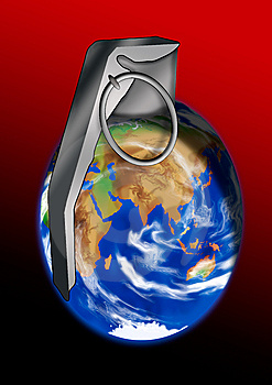 World Grenade Royalty Free Stock Image - Image: 6388446