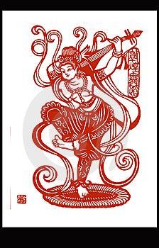 China Paper CUT Dragon Phoenix Stock Images - Image: 6388774