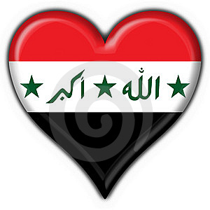 Iraq Button Flag Heart Shape Royalty Free Stock Photo - Image: 6392705
