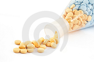 Pills And Drugs Isolated On White Stock Photography - Image: 6392872