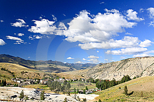 The Mammoth Hot Spring Area In Yellowstone Stock Images - Image: 6393214