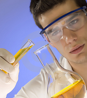 Scientist Working In A Laboratory Stock Image - Image: 6393731