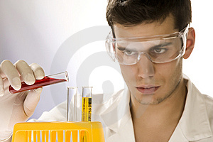 Young Scientist Working In His Laboratory Stock Photography - Image: 6394422