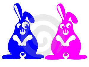 Crazy Rabbits Royalty Free Stock Photos - Image: 6396588