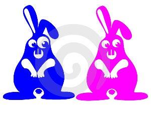 Crazy Rabbits Royalty Free Stock Photos - Image: 6396588