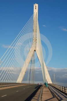 Modern Suspension Bridge Stock Photos - Image: 642683