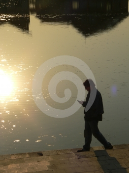 Walking Boy Silhouette Stock Image - Image: 643981