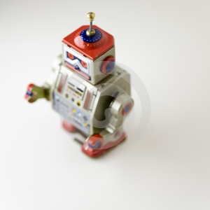 Toy metal robot Royalty Free Stock Images