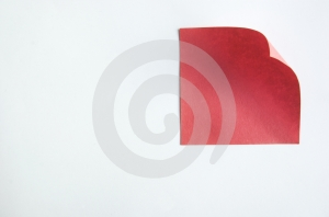 Κόκκινη σημείωση Στοκ Εικόνες - εικόνα: 647920