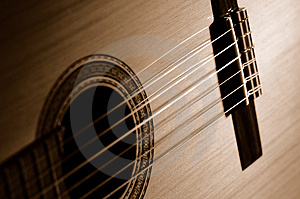 Sepia Guitar Royalty Free Stock Photo - Image: 648435