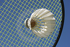 Close-Up Badminton Royalty Free Stock Photo