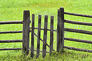 Countryside fence Stock Photos