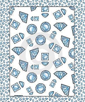 Diamonds - Seamless Pattern Stock Photo - Image: 6404530