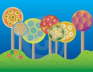 Flowering Trees Stock Photo - Image: 6404680