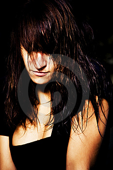 Spooky Woman Portrait Royalty Free Stock Photo - Image: 6406045