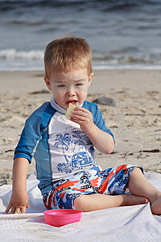 Toddler At The Beach Stock Images - Image: 6406924