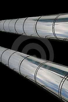 Chrome Pipes Stock Image - Image: 6408061