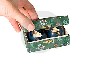 Box With Relaxation Balls Stock Image - Image: 6410111