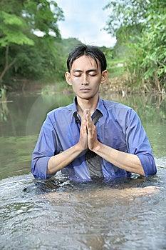 Meditación Del Hombre De Negocios Fotografía de archivo - Imagen: 6410672