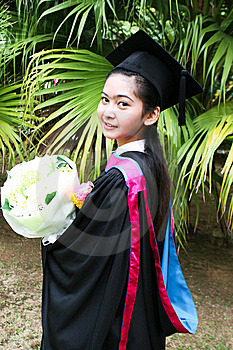Asian Graduate Royalty Free Stock Photo - Image: 6412185