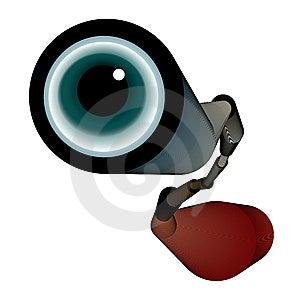 Spyglass With Eye Stock Photography - Image: 6412792