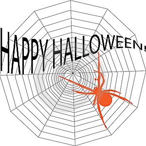 Halloween Spiderweb Stock Photo - Image: 6412940
