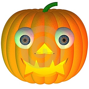 Goofy Jack-o-Lantern Stock Photos - Image: 6415303
