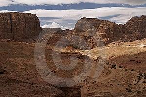 City Petra (Jordan). The Top View. Royalty Free Stock Image - Image: 6416246