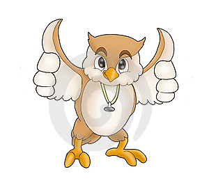 Owl Smiling Wear Stetoskop Royalty Free Stock Photography - Image: 6416457