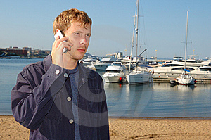 Young Stylish Man Talk On Mobile Phone Royalty Free Stock Images - Image: 6421449