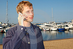Young Stylish Man Talk On Mobile Phone Stock Photo - Image: 6421460