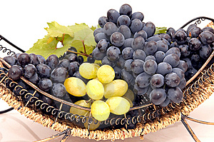 Bunches Of Grapes  In Basket. Royalty Free Stock Photo - Image: 6422295
