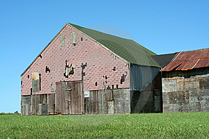 Old Barn With Grass And Blue Sky Stock Photo - Image: 6423130