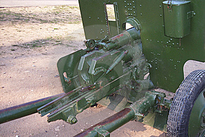 Soviet WW2 Antitank Gun Royalty Free Stock Images - Image: 6427379