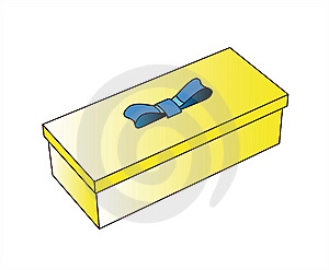 Little Yellow Gift Box Royalty Free Stock Photo - Image: 6427685