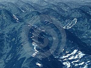 Blue Wavy Ocean Surface Royalty Free Stock Photos - Image: 6428308