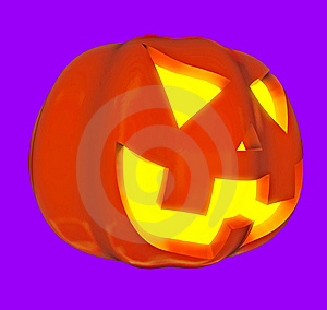 Jack-o'-lanterns 3d Stock Photography - Image: 6431252