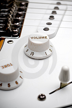 Guitar Volume Control Royalty Free Stock Photos - Image: 6431618